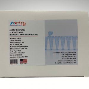 8 Strip PCR Tubes 0.2ml